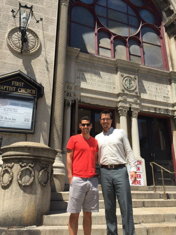 In front of Matthew's Church on Broadway and 79th. If you're in the city - stop by for a visit!
